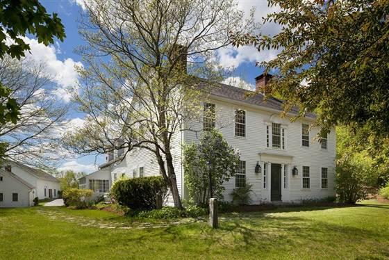 Het huis van Renee Zellweger in de Amerikaanse staat Connecticut.