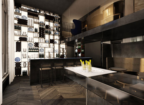 Tunes bar in het Conservatorium Hotel in Amsterdam