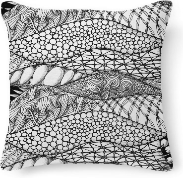 Zentangle kussensloop / Print all over me