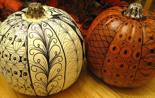 Zentangle pompoenen / Robin Inspirations op Pinterest