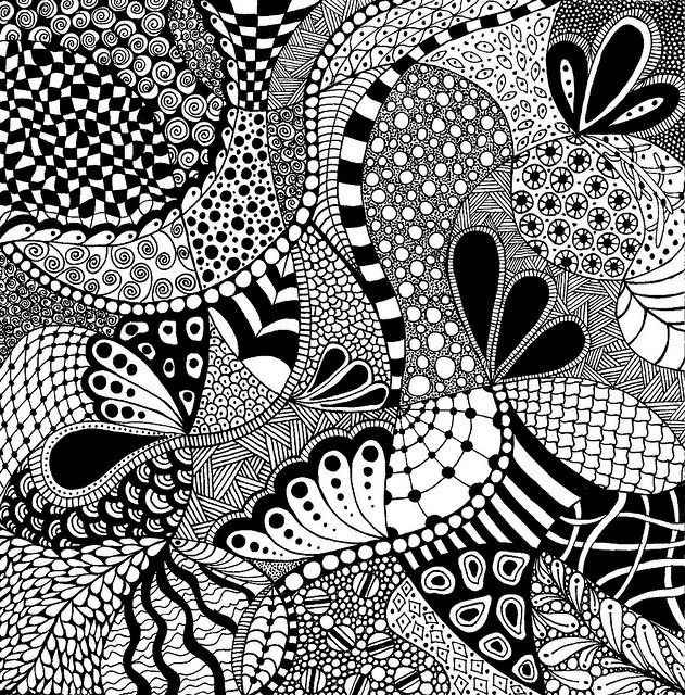 Een Zentangle van de Flickraccount van Praile / www.tangletangletangle.com