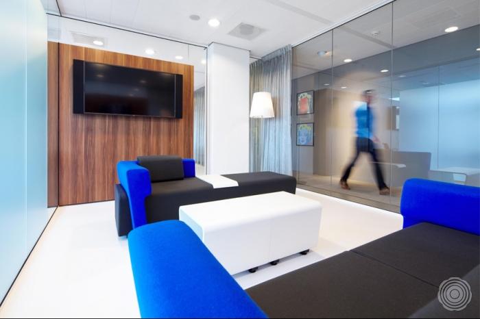 Senso vloeren in het nieuwe kantoor van DTZ Zadelhoff