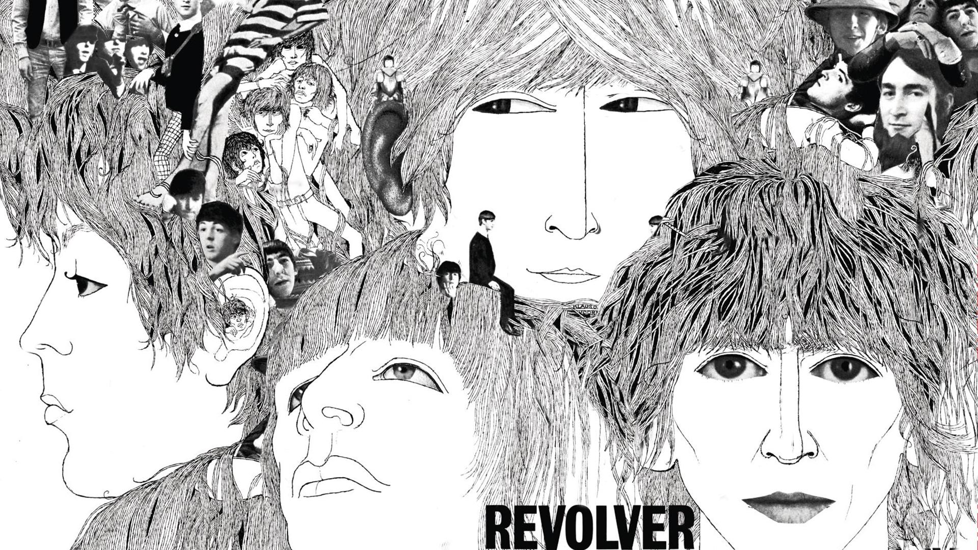 Beatles Revolver platenhoes lijkt een beetje op Zentangle