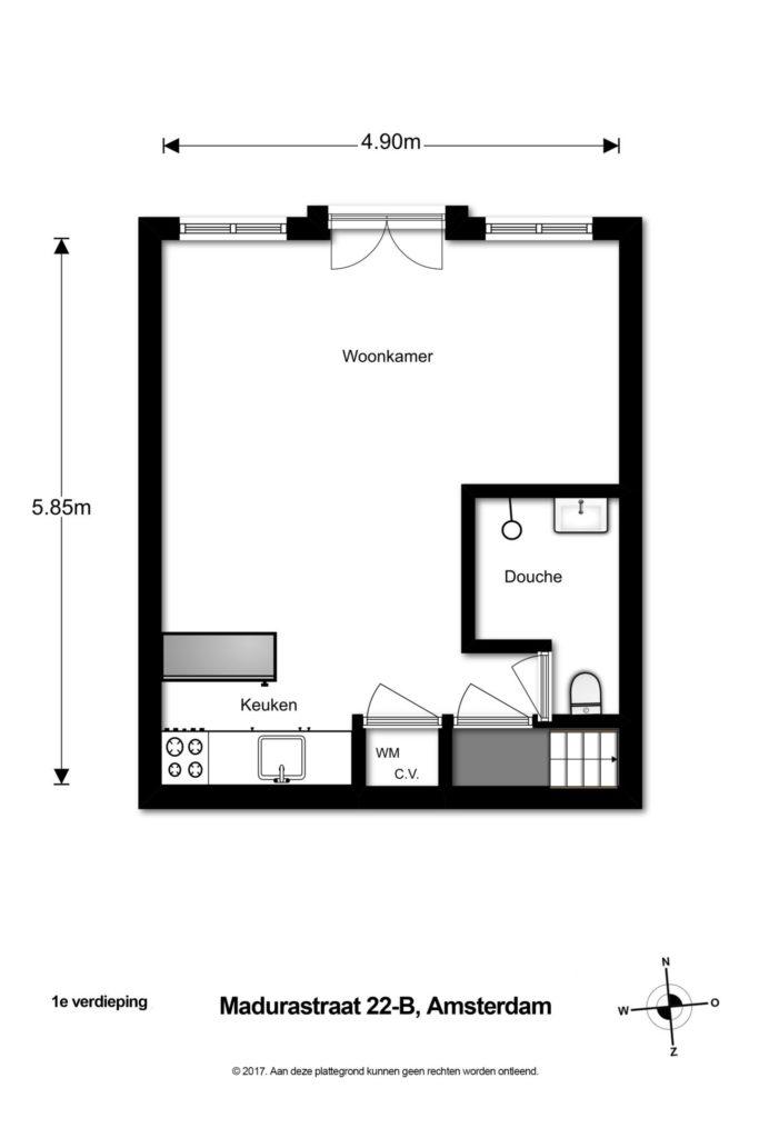 Plattegrond kleine keuken kleine keuken - Studio indeling ...